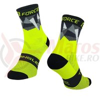 Sosete Force Triangle fluo/negru