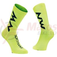 Sosete Northwave Extreme Air Mid, Yellow Fluo/Black