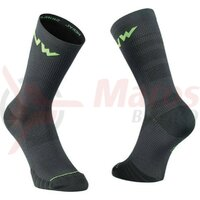 Sosete Northwave Extreme Pro, Black/Lime Fluo
