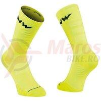 Sosete Northwave Extreme Pro, Yellow Fluo/Black