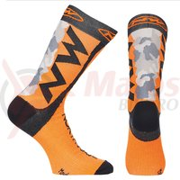Sosete Northwave Extreme Tech Plus camo/orange fluo