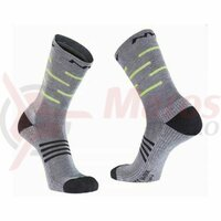 Sosete Northwave winter Extreme Pro High, Gray/Yellow Fluo