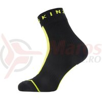 Sosete SealSkinz All Weather Ankle hydrostop black/neon yellow