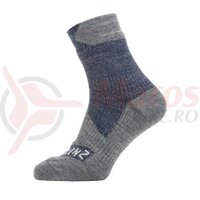 Sosete SealSkinz All Weather ankle navy/grey