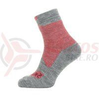 Sosete SealSkinz All Weather ankle red/grey