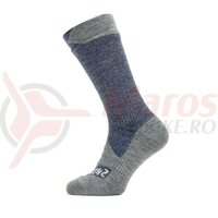 Sosete SealSkinz All Weather mid length navy/grey