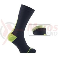 Sosete SealSkinz Road Thin Mid Hydrostop yellow/black waterproof