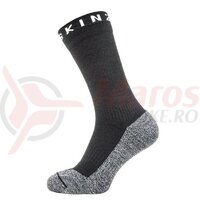 Sosete SealSkinz Soft Touch Mid black/grey waterproof
