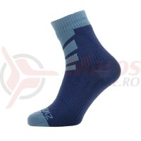 Sosete SealSkinz Warm Weather Ankle navy blue waterproof