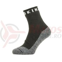 Sosete SealSkinz Warm Weather Soft Touch ankle length black/grey