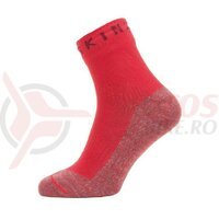 Sosete SealSkinz Warm Weather Soft Touch ankle length red