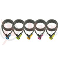 Lacat antifurt Spiral Cable Onguard Neon 8156 180cm, 12mm