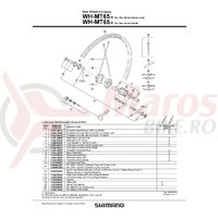 Spita Shimano pentru Roata WH-MT65-R 272mm Stanga Include Capat si Saiba