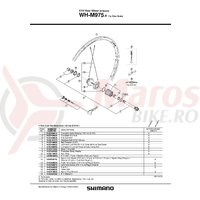 Spita Shimano pentru WH-M975-R Stanga 272mm cu capat si saiba