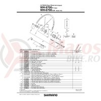 Spita Shimano WH-6700-R Dreapta 304mm + Capat & Saiba