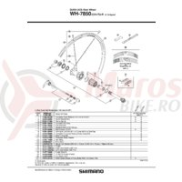 Spita Shimano WH-7850-C24-TU-R Dreapta 302mm