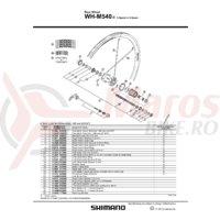 Spita Shimano Wh-M540-R Stanga 266mm + Saiba