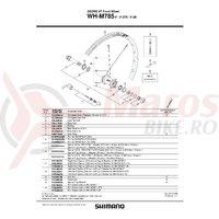 Spita Shimano WH-M785-F-29 Stanga 299mm Include Capat/Saiba