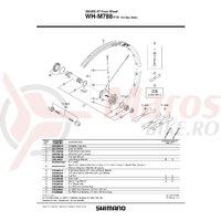 Spita Shimano WH-M788-F15 Stanga 269mm Include capat & saiba
