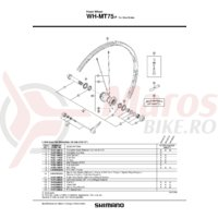 Spita Shimano WH-MT75F stanga 301mm + spoke plug & saiba