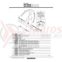 Spita Shimano WH-R550-F 286mm Argintie + Saiba