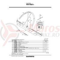 Spita Shimano WH-R601-F 284mm & Saiba