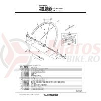 Spita Shimano Wh-RS20 284mm Argintiu