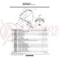 Spita Shimano WH-RS31-R dreapta 298mm