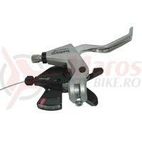 Maneta frana+schimbator Shimano Altus ST-M310 2-Finger 8v, dreapta, V-Brake, 2050mm, silver