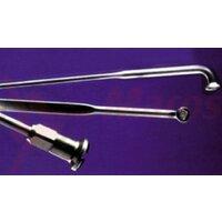 Spite 2x254mm Nirosta silver, nipluri 12mm (100 buc.)