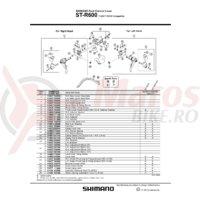 ST-R600 Shimano ansamblu corp maneta stanga