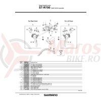 ST-R700 Shimano capac maneta dreata & surub