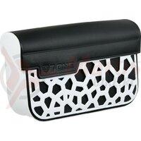 Stem bag T-One Dry PU, white/black, 90x130x15 mm