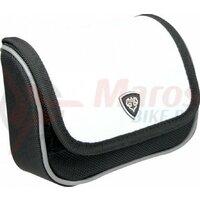 Borseta pipa T-One Carry on Nylon/leatherette, white, 120x100x50 mm