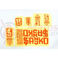 Sticker Radio SAIKO orange