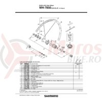 Stickere pentru janta Shimano WH-7850-C24-CL-R