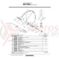 Stickere pentru janta Shimano WH-7850-SL-R