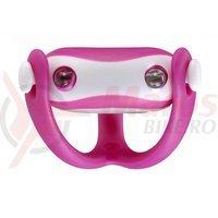 Stop fata Infini I-203W de silicon 2L albe 5F roz