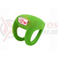 Stop spate Knog Frog Strobe verde led rosu