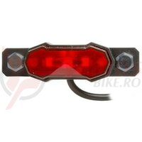 Stop Smart Vulcan mini, pentru E-bike, 3 leduri rosii, 6-15V, montare portbagaj spate, dist, suruburi 50mm, AM