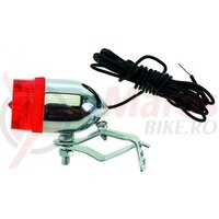 Stop spate Retro cu bec 6V/0,5W pentru dinam cu cablu 160cm