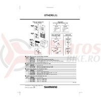 Stopere de cablu Shimano Dura-Ace SM-ST74 stanga & dreapta pentru cadru aluminiu