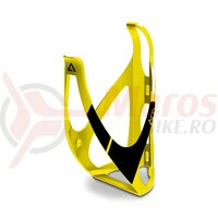 Suport bidon Acid Bottle Cage HPP galben/negru mat