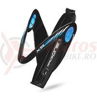 Suport bidon RaceOne X5-Gel negru/albastru deschis/alb