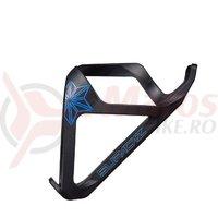 Suport bidon Supacaz Tron - incarcare laterala (Plastic) - albastru neon