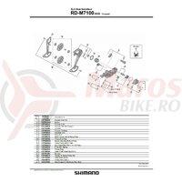 Suport de prindere pe urechea de schimbator Shimano RD-M7100