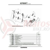 Suport de prindere pe urechea de schimbator Shimano RD-R8000 pt. tip normal