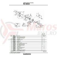 Suport de prindere unitate Shimano RD-M640 pt. mode downhill