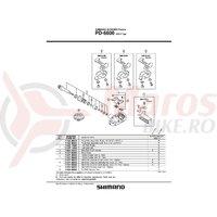 Suport de uzura din cauciuc pentru Shimano PD-6600 Stanga