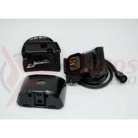Suport pentru baterie Shimano Steps BM-E8010 cablu baterie 600 mm fara butucul cu cheie negru